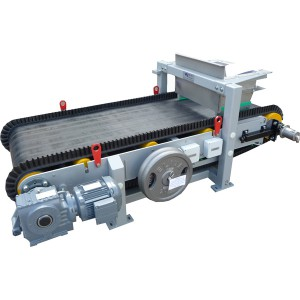 Medium capacity weigh belt feeder