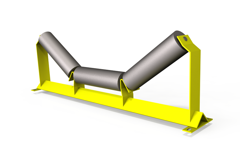 Inline weigh idler used on  conveyor belt scales to ensure the best weighing results