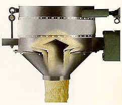 Vibratory volumetric  or loss In weight  feeders cross section showing material vibration and discharge